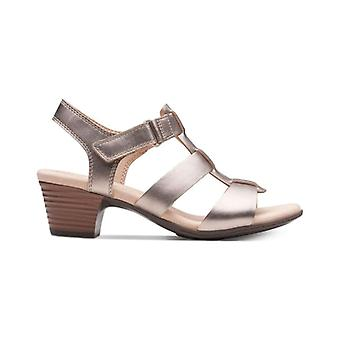 Clarks Womens Valarie Kerry Leather Open Toe Casual Ankle Strap Sandals