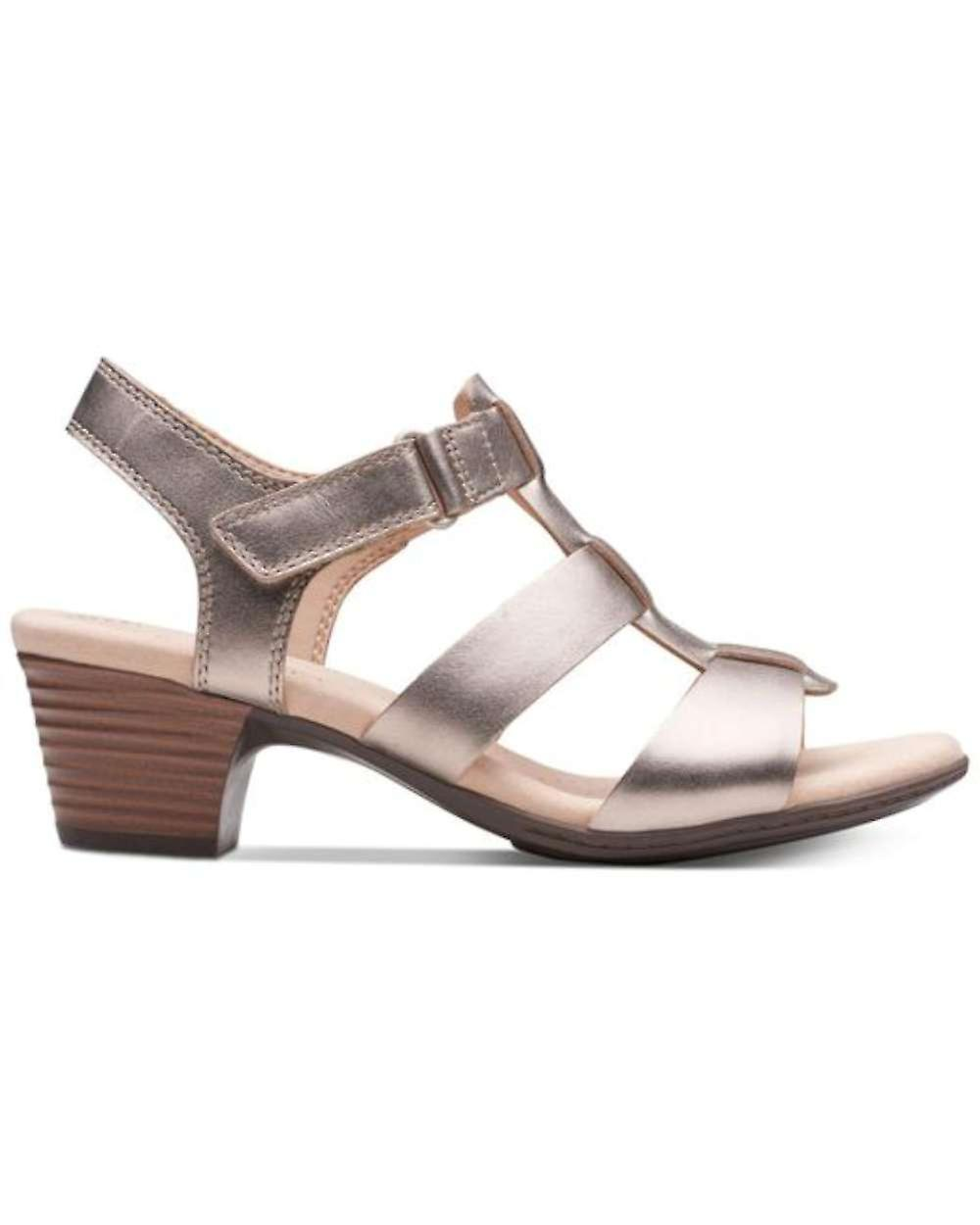 Clarks Womens Valarie Kerry Leather Open Toe Casual Ankle Strap Sandals NtI9e