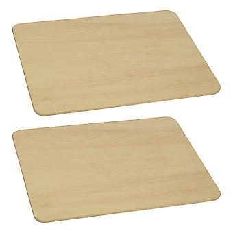 Bigjigs Toys Children's Wooden Small Pastry Board (Pack of 2) Roleplay Kitchen
