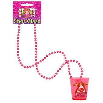 Wicked Nights Ltd Henne Party Shot Glas mit Halskette