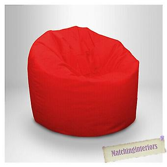 Klaar vast bed | Children's Teens Water Resistant Medium Bean Bag with Beans (Red)