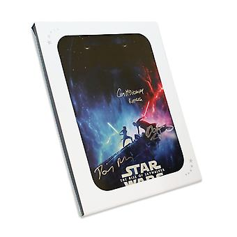 Daisy Ridley, Adam Driver et Ian McDiarmid Signé Star Wars Poster: The Rise Of Skywalker Gift Box