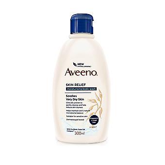 Johnson and Johnson Aveeno Skin Relief Moisturising Body Wash 300ml Soap and Fragrance Free