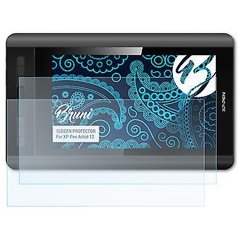 Bruni 2x Screen Protector kompatibel med XP-Pen Artist 12 Beskyttende Film