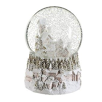 Gisela Graham Led Village Snowglobe
