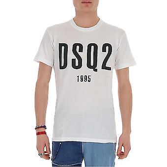 Dsquared2 S74gd0686s21600100 Män's White Cotton T-shirt