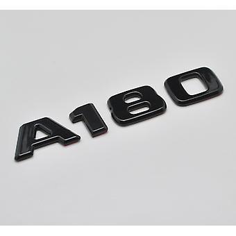 Glänzend schwarz A180 flach Mercedes Benz Auto Modell Nummern Buchstaben Abzeichen Emblem für eine Klasse W176 W177 AMG