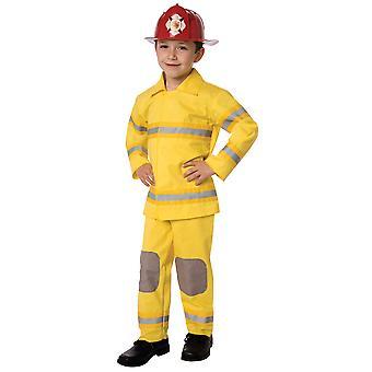 Traje infantil bombeiro
