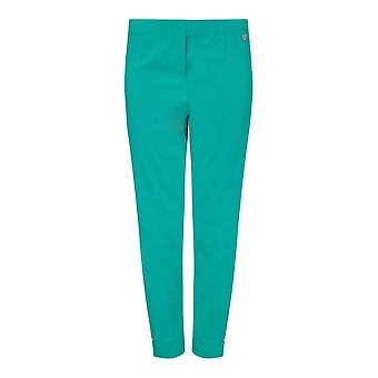 PERFECT FIT Cropped Green Bengaline Trouser