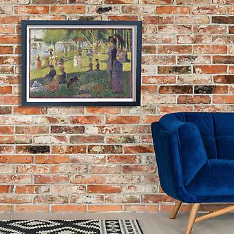 Georges Seurat - Picnic by the River Poster Print Giclee