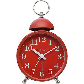 NeXtime - Wecker – ca. 16 cm - Metall – Rot – Lauter Alarm- 'Single Bell'