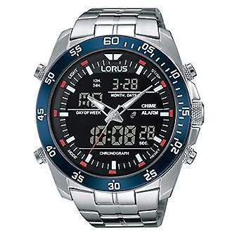 Analog digital Watch Lorus kvarts män med rostfritt stål rem RW623AX9