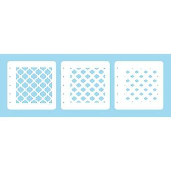 Nellie's Choice Layered combi stencil set (set of 3) Eastern Oval LCSEO001 125x125mm (02-20)