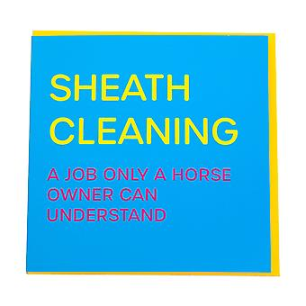 Gubblecote Sheath Cleaning Greetings Card