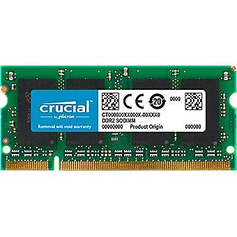 Crucial CT12864AC800 1 GB memory, DDR2, 800 MHz, PC2-6400, SODIMM, 200-Pin