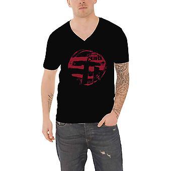 The Cure T Shirt Eastern Red Logo Summer Festivals 2019 Official Black V Neck