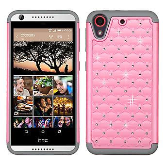 ASMYNA FullStar Case for HTC Desire 555/650/530/626S/626 - Pearl Pink/Gray