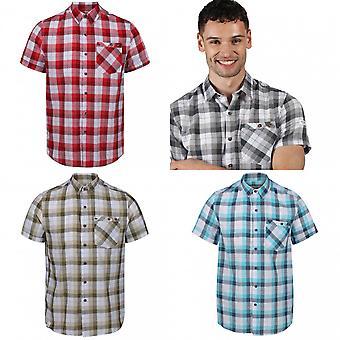 Regatta Mens Ramiro korte mouwen geruit shirt