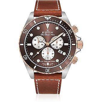 Edox - Wristwatch - Men - SkyDiver - 70s Chronograph - 10238 357RBRC BRIA