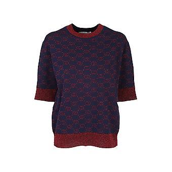 Gucci 605920xkaht4668 Women's Blauw/rood Wollen trui