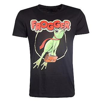 Official Frogger Retro Logo Men's T-shirt