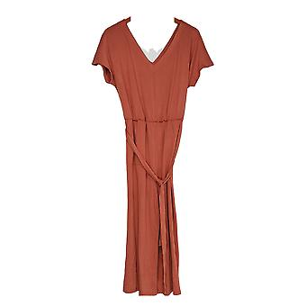 Anybody Women's Textured Knit Tie-Front Jumpsuit Brown A374526
