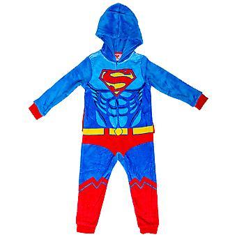 Superman puku lasten unioni puku irrotettava velcro cape