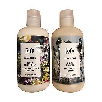 R+Co Gemstone Color Shampoo & Conditioner Set 8.45 OZ Each