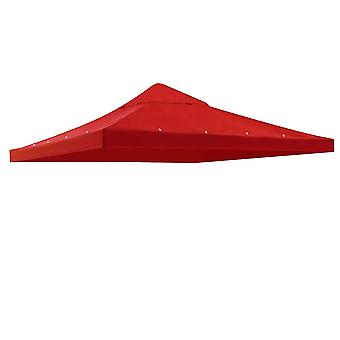 "Yescom 117""x117"" Canopy Top Replacement Y0049707 Red for Smaller 10'x10' Single-Tier Gazebo Cover Patio Garden Outdoor"