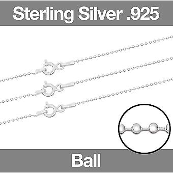 Sterling Silver CLASSIC BALL Ketting ketting 16