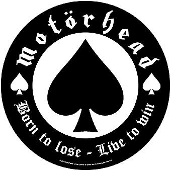 Motorhead Back Patch geboren te verliezen leven om te winnen van nieuwe officiële circulaire 28,5 cm