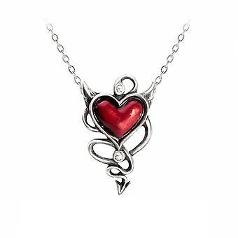 Alchemy - devil heart - pendant necklace