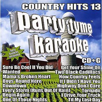 Party Tyme Karaoke - Country Hits 13 [CD] USA import
