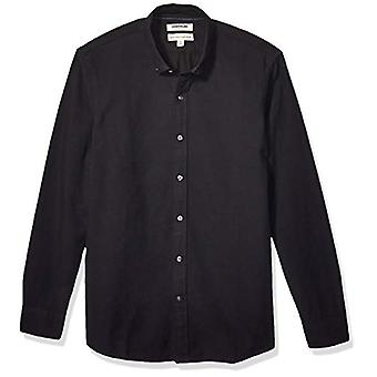 Marke - Goodthreads Men's Langarm Oxford Shirt, schwarz XXX-large