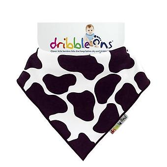 Cow print dribble ons bib by sock ons