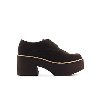 PALOMA BARCELÓ MONSARAZ BROWN SUEDE PLATE-FORME LACE-UP CHAUSSURE