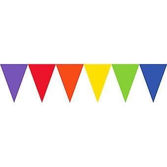 Bannière de Pennant Amscan Rainbow banderoles 15 pieds