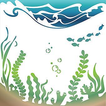 Estêncil LDRS Criativo sob o mar 6x6 polegadas Stencil