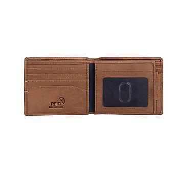 Primehide Mens Carteira de cartão de couro RFID Bloqueando Gents Notecase Card Holder 4801