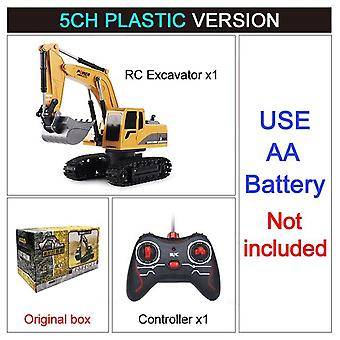 Rc Excavator Toy 2.4ghz 6 Channel 1:24 Rc Engineering Car Alloy And Plastic Excavator For Kids