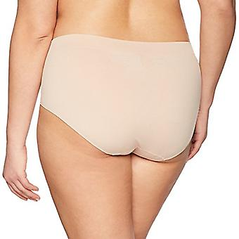Merk - Arabella Women's Seamless Brief Panty, 3 Pack,Sunbeige,X-Large