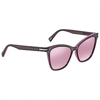 Sunglasses Women's Black/Pink Cat Eye