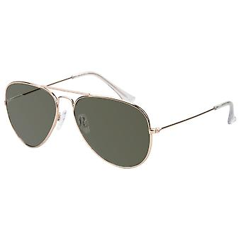 Sunglasses Unisex Gold with Green Lens (17-609 P)