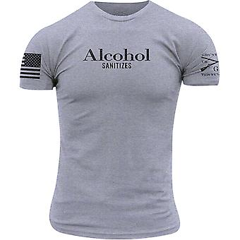 Grunt Style Alcol Sanitizes T-Shirt - Heather Gray