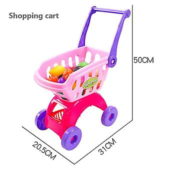 25kpl / setti Kids Supermarket Shopping Groceries Cart Trolley, Play House
