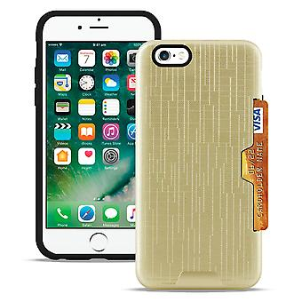 Hard Cover In for Apple iPhone 6/6s Hard Modular Cover Silicone Plastic Hybrid Gold