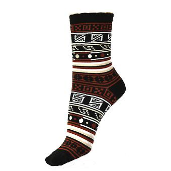 Womenăs Casual Cotton Pattern Over Ankle Socks 4-6 Uk