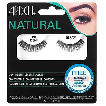 Ardell Natural Fashion Lashes - 101 Demi Black - Adeziv Eyelash Duo inclus