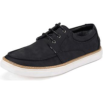 Mio Marino Mens Boat Shoes - Sneakers for Men (BK,8) Black