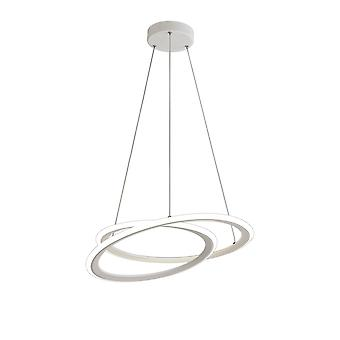 Luminosa Beleuchtung - Deckenanhänger, 1 x 40W LED, 4000K, 2996lm, 3 Schritt Dimmen, Matt weiß